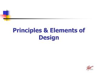 Principles & Elements of Design