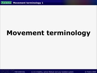 Movement terminology 1