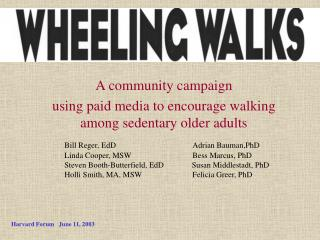 A community campaign using paid media to encourage walking among sedentary older adults