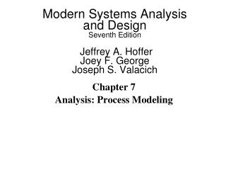 Chapter 7 Analysis: Process Modeling