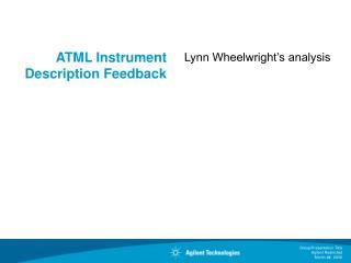 ATML Instrument Description Feedback