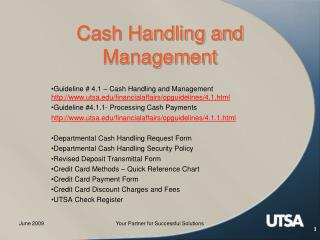 Cash Handling and Management