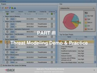 PART III Threat Modeling Demo & Practice