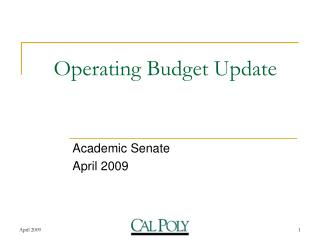 Operating Budget Update