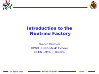 Introduction to the  Neutrino Factory