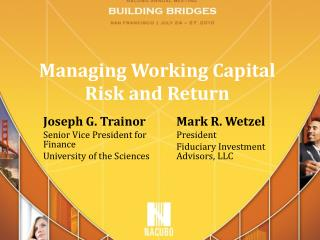 Managing Working Capital Risk and Return