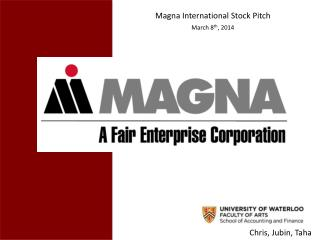 Magna International Stock Pitch