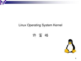 Linux Operating System Kernel 許 富 皓