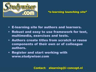 """e-learning  launching site """