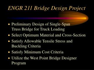 ENGR 211 Bridge Design Project