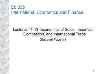 Ec 335 International Economics and Finance
