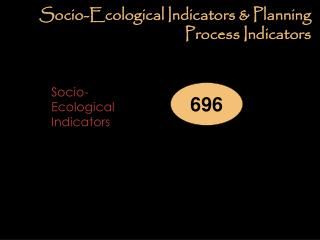 Socio-Ecological Indicators & Planning Process Indicators