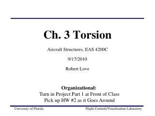 Ch. 3 Torsion