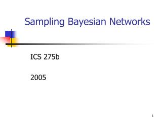 Sampling Bayesian Networks