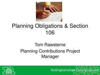 Planning Obligations & Section 106