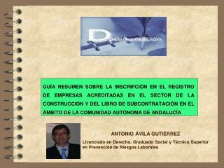ANTONIO ÁVILA GUTIÉRREZ