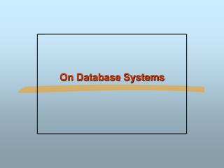 On Database Systems