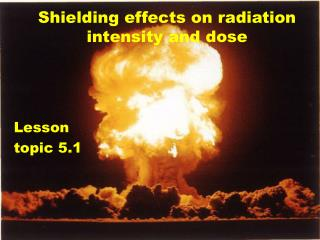 Shielding effects on radiation intensity and dose
