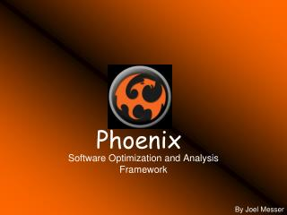 Software Optimization and Analysis Framework