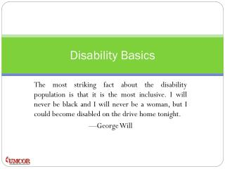 Disability Basics