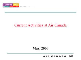 Current Activities at Air Canada
