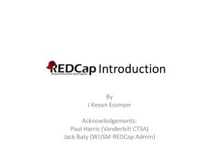 REDCap  Introduction