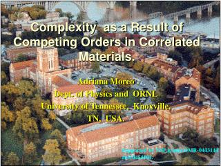 Complexity  as a Result of Competing Orders in Correlated Materials.