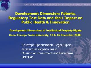 Christoph Spennemann, Legal Expert  	Intellectual Property Team
