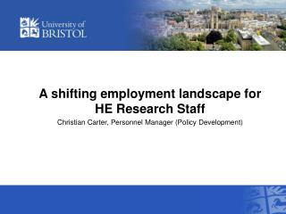 A shifting employment landscape for HE Research Staff
