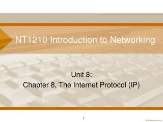 NT1210 Introduction to Networking