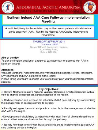 Northern Ireland AAA Care Pathway Implementation Meeting