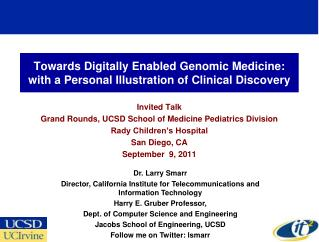 Towards Digitally Enabled Genomic Medicine: with a Personal Illustration of Clinical Discovery
