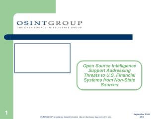 OSINTGROUP proprietary data/information. Use or disclosure by permission only.