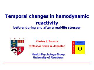 Temporal changes in hemodynamic reactivity before, during and after a real-life stressor