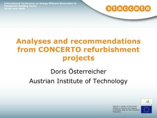 Analyses and recommendations from CONCERTO refurbishment projects