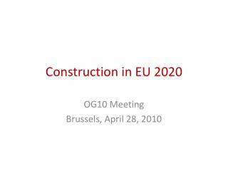Construction in EU 2020