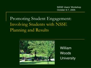 Promoting Student Engagement:  Involving Students with NSSE Planning and Results