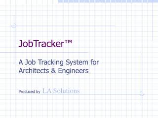 JobTracker ™