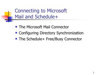 Connecting to Microsoft  Mail and Schedule+