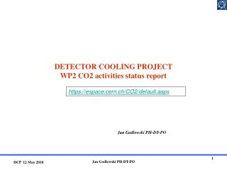 DETECTOR COOLING PROJECT WP2 CO2 activities status report