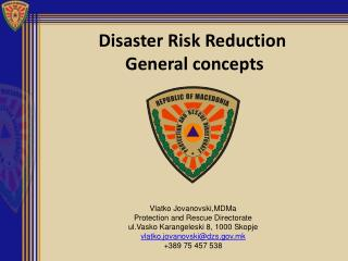 Disaster Risk Reduction   General concepts