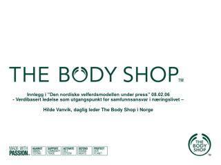 Historien bak The Body Shop