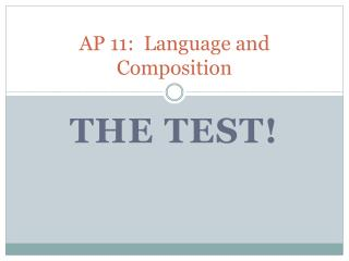 AP 11:  Language and Composition