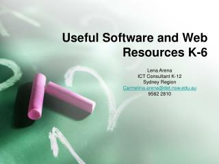 Useful Software and Web Resources K-6