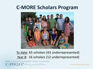 C-MORE Scholars Program