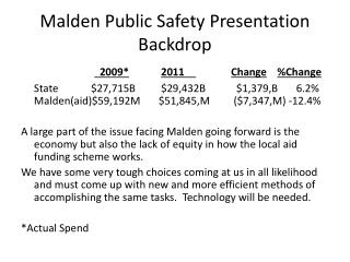 Malden Public Safety Presentation Backdrop