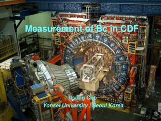 Measurement of Bc in CDF