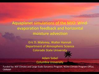 Aquaplanet simulations of the MJO: Wind-evaporation feedback and horizontal moisture advection