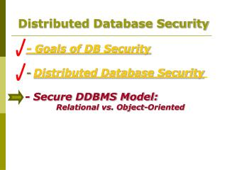 Distributed Database Security