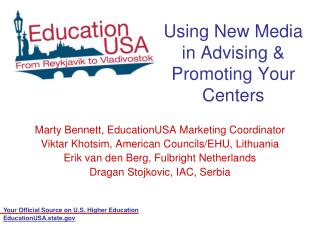 Using New Media in Advising & Promoting Your Centers